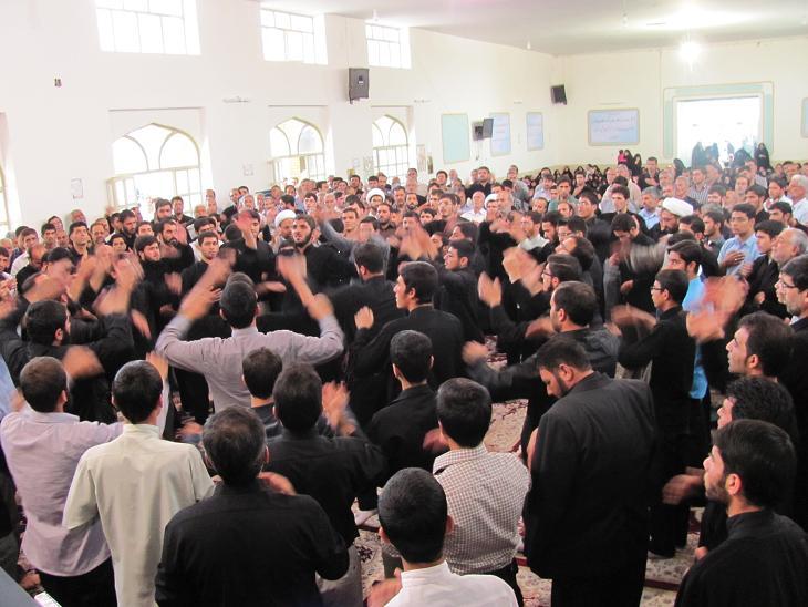 مراسم عزاداراي در حوزه علميه امام صادق(ع)